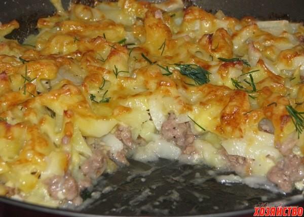рецепт картофеля с фаршем