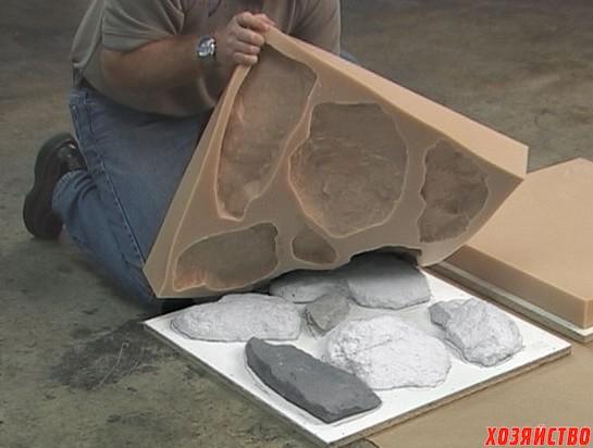 Технология производства искусственного камня в домашних условиях