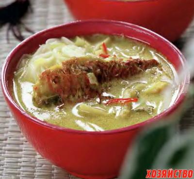 Суп рисовый с рыбой