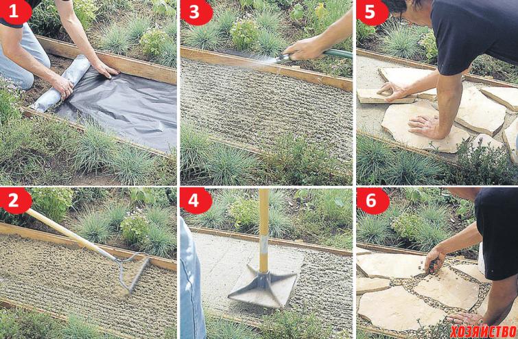 Как сделать дорожку на даче своими из  957