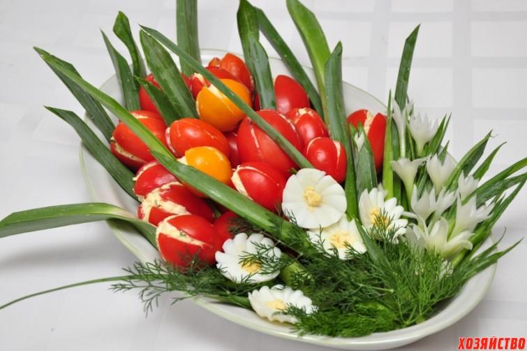 Закуска «Тюльпаны к 8 Марта»2