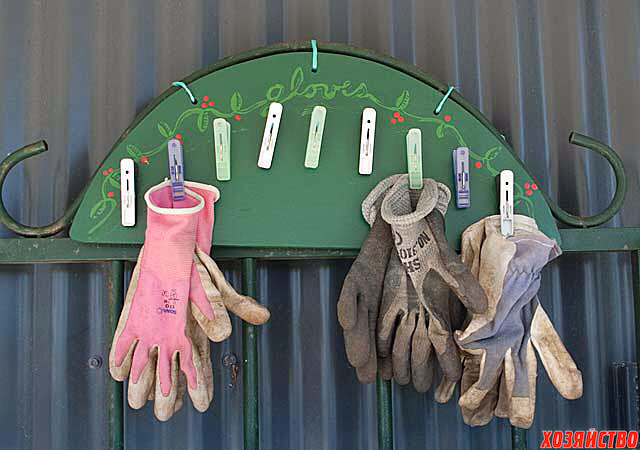 Идея для дачи - садовая вешалка для перчаток.jpg
