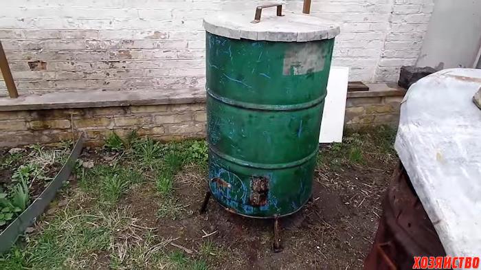 Как из бочки сделать печь для сжигания мусора