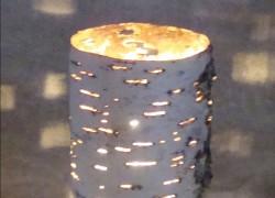 Светильники из бересты на веранде