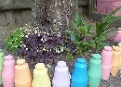Мой цветник под березой