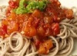 Паста со специями, фасолью и кабачками