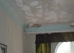 Потолок стал мокреть и плесневеть
