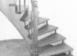 Лестница в загородный дом: дерево вне конкуренции