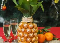 """Упаковка для подарка: \""""Шампанское-ананас\"""""""