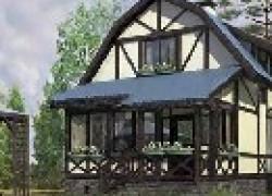 Небольшой дом из металлического каркаса