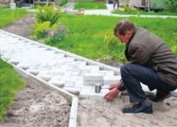 Тротуарная плитка домашнего производства