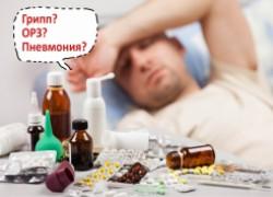 Как отличить грипп от пневмонии или банального ОРЗ?