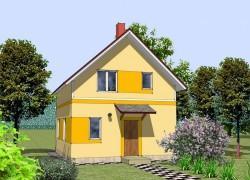 Мансардный дом с четырьмя спальнями