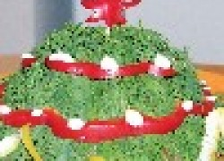 Салат Новогодняя елка