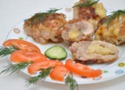 Голени цыплят с сыром и ананасом