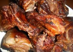 Копчёная свинина в русской печи