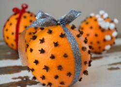 Душистый запах Нового года: помандер из апельсина и гвоздики