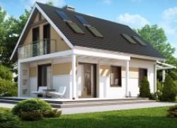 Дом с удобной планировкой с навесом для автомобиля