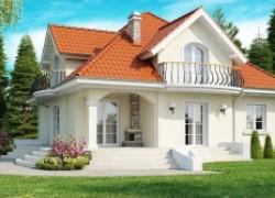 Элегантный классический дом с изящными окнами