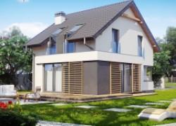 Дом простой формы для узкого участка
