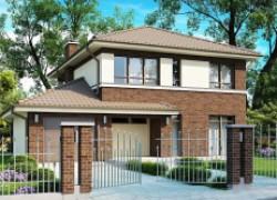 Элегантный двухэтажный дом с боковым гаражом