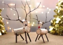 Сказочные олени из березовых веток к Новому году. Мастер-класс