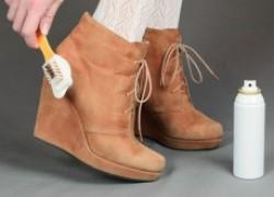 Как очистить замшевую обувь