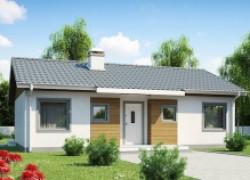 Компактный дом с двускатной крышей: выгодно и практично