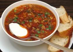 Марокканский суп с чечевицей