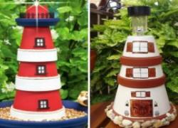 Делаем маяк из цветочных горшков