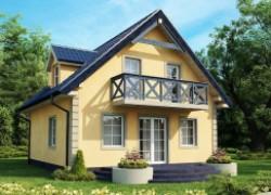 Небольшой практичный дом с мансардой