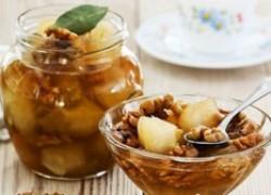 Яблочное варенье с лимоном и орехами
