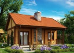 Небольшой, но практичный дачный дом