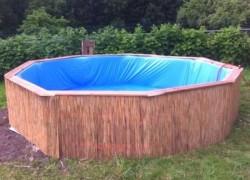Строим бассейн из поддонов на своем участке