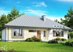 Одноэтажный дом с возможностью обустройства чердачного помещения