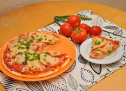 Пицца на завтрак за пять минут