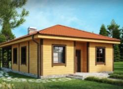 Компактный дом с большой крытой террасой