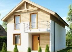 Простой и удобный дом для узкого участка с высокой аттиковой стеной