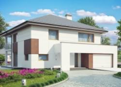 Элегантный комфортабельный двухэтажный дом с современными элементами архитектуры