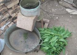 Измельчитель травы из стиральной машинки