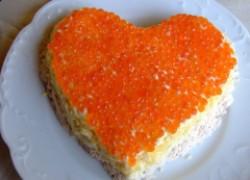 Салат «Сердце» из морепродуктов
