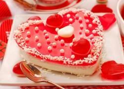 Желейный пирог на День святого Валентина