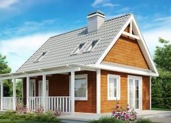 Маленький, уютный дом с мансардой