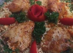 Курица с рисом и овощами в духовке
