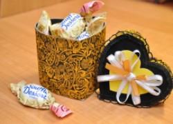 Подарочная коробочка ко дню влюбленных