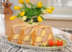 Блинный пирог «шахматка» без выпечки