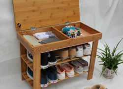 Обувной стеллаж из досок