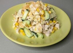 Салат с яичным блином
