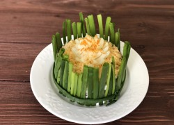 «Мимоза» с сыром, маслом и яблоком