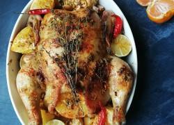 Курица в цедре трех цитрусовых